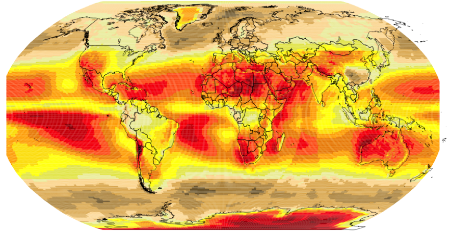 El cinturón solar de la Tierra