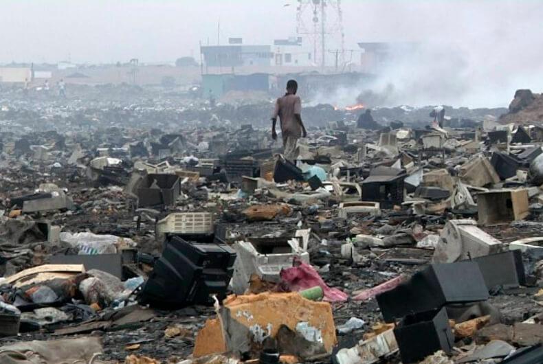 Agbogbloshie Ghana, los lugares más contaminados del mundo.