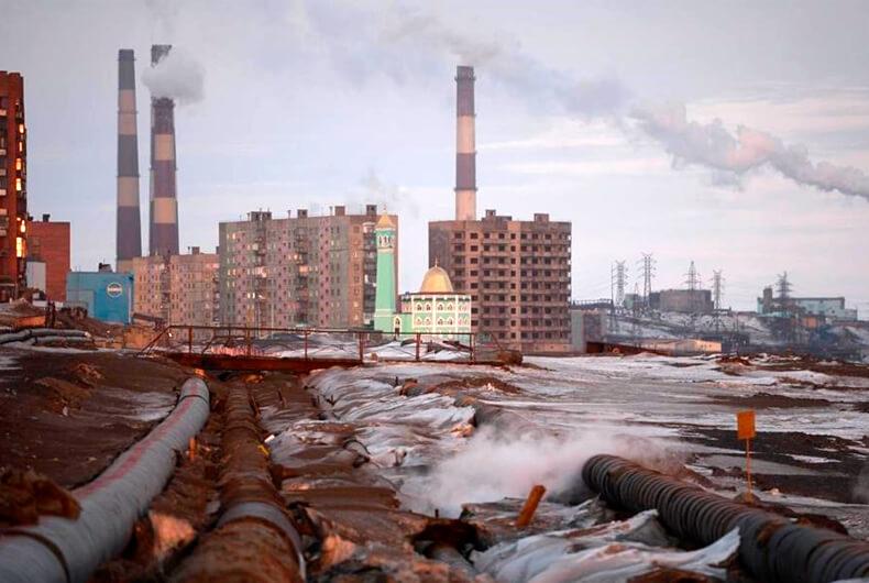 Norilsk Rusia, los lugares más contaminados del mundo.
