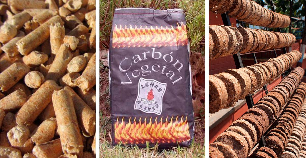 Biocombustibles sólidos: pellets, briquetas, astillas, carbón vegetal