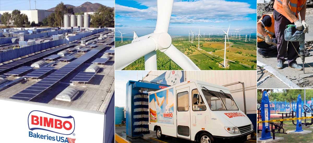 Grupo Bimbo se propone ser una empresa 100% renovable.