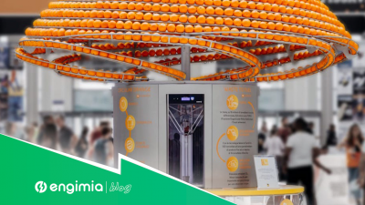 El innovador exprimidor de naranjas 3D que imprime vasos bioplásticos
